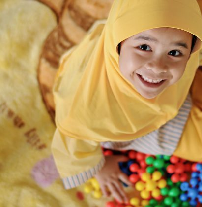 Happy children at little caliphs